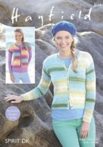 Hayfield Spirit Double Knit - 8114 Cardigans Knitting Pattern